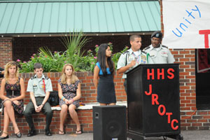 JROTC memorializes victims with poetry, service