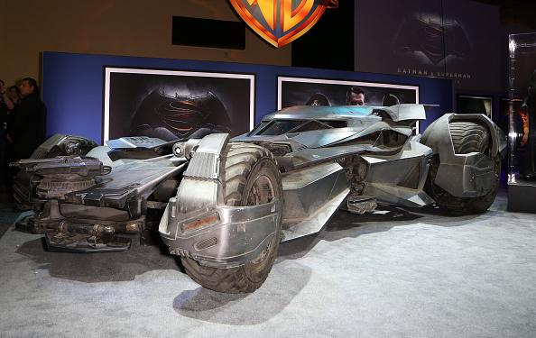 LAS VEGAS, NV - JUNE 09:  The Batmobile from the upcoming movie