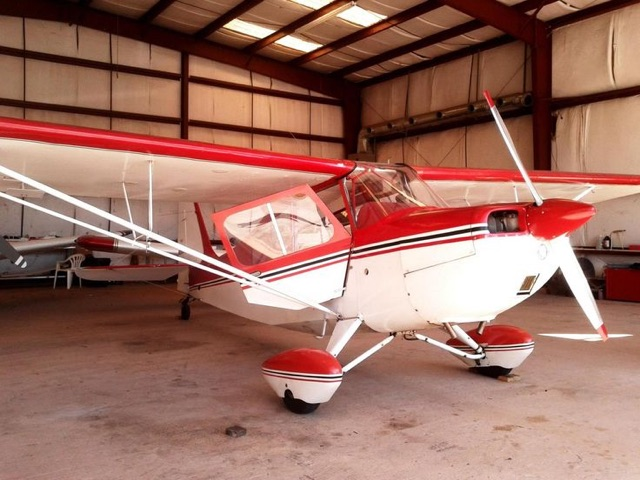 Maggie Kratzer's two-seater, a 1968 Citabria, stays parked at Zephyrhills airport. This year she will be able to get her Silver Flyers License.  Photo courtesy Maggie Kratzer
