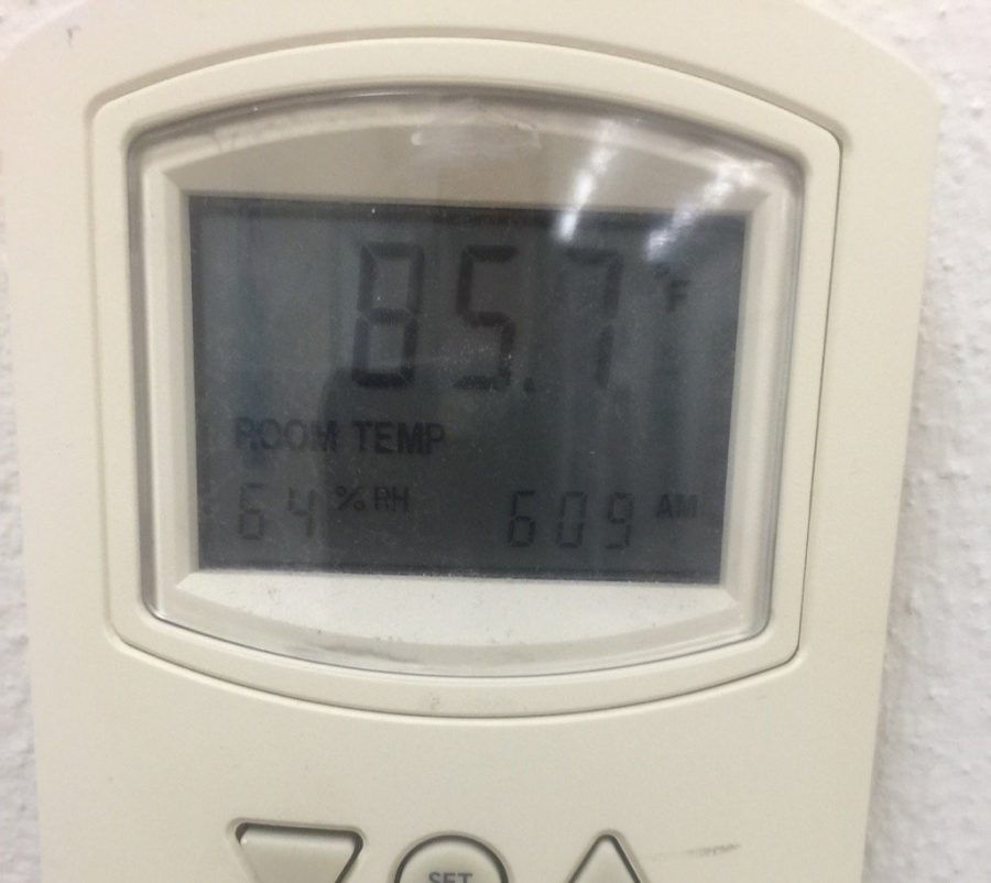 The temperature in the 500 building exceeds outside temperatures.
