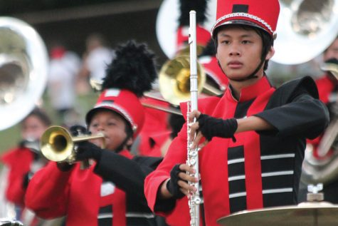 Band performs at Lion's Pride Competition