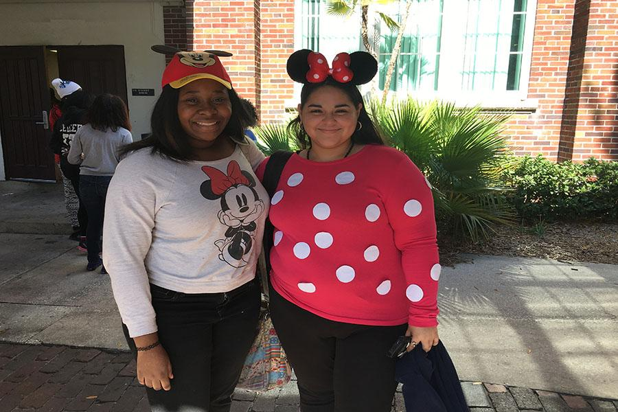 After+B+lunch%2C+Erika+Mondragon+and+friend+talk+about+why+they+dressed+as+Mickey+and+Minnie.++%22+we+dressed+as+Minnie+and+mickey+because+it+is+legendary+to+dress+as+them.%22