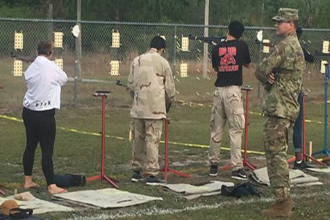 JROTC competes at Area 9 rifle match