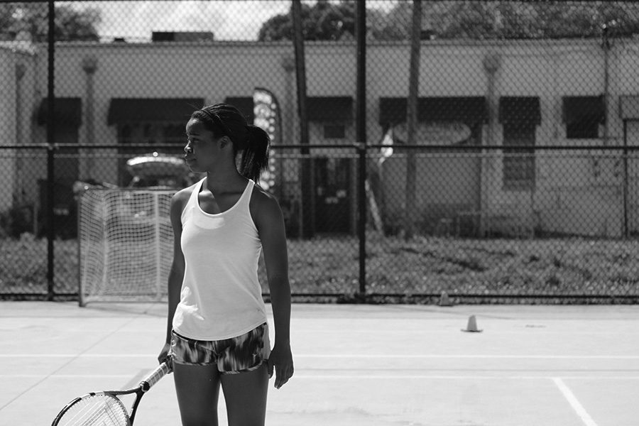 The significant thing about Moreland, is not that she plays tennis, or even the fact that she is good at it. What matters is her dedication- being the only girl out on the court, going to every practice, going to every match, despite whether or not her friends are out there too.