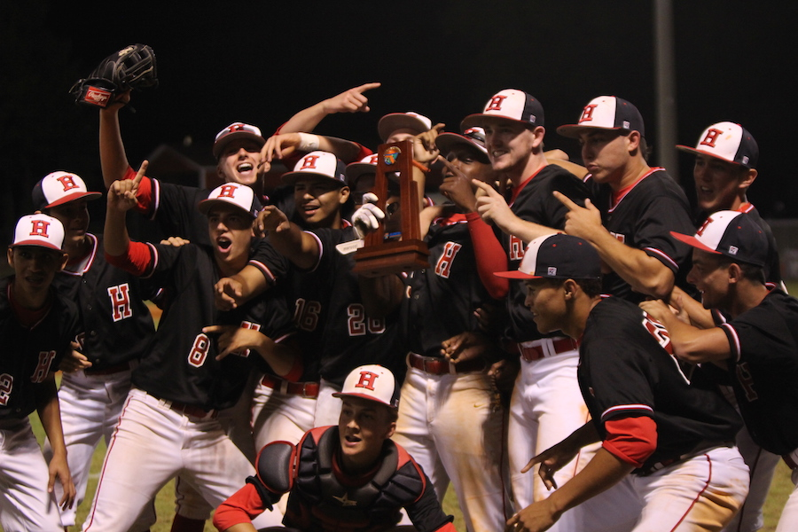 The Terriers celebrate their win that named them District champions.