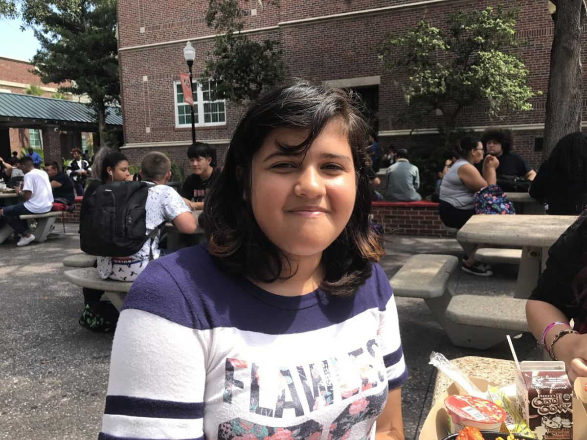 Sindel Sánchez, 12, thinks racism will end by nuclear war.