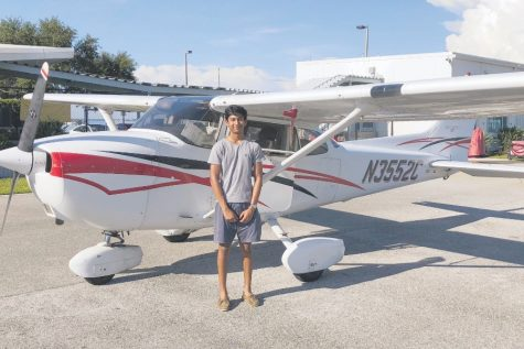 Vedu Ruia prepares to get his flying license