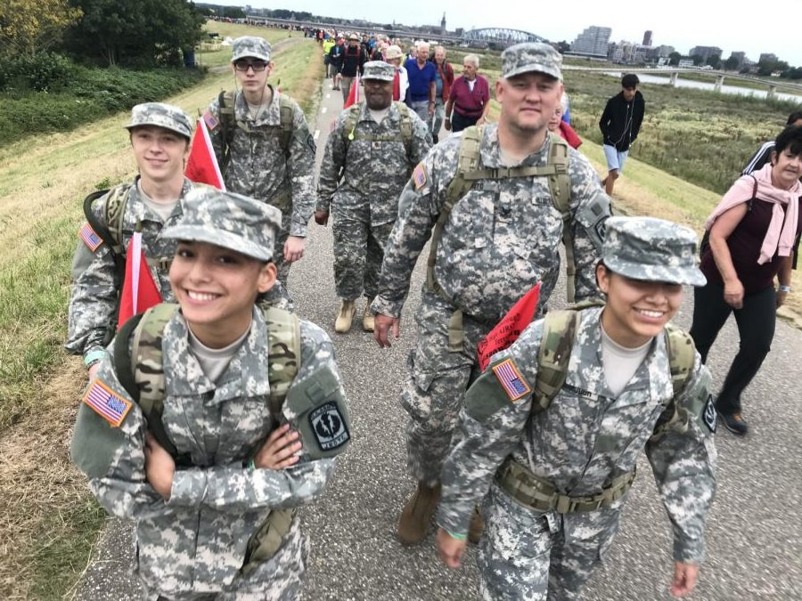 JROTC+Cadets+march+through+the+Netherlands