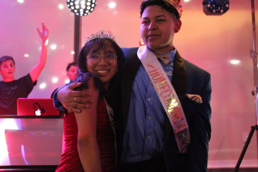 Cassie Truong and Jorge Vasquez took the stage as queen and king at homecoming Saturday night.