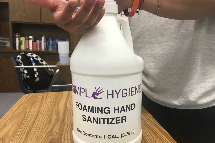 Simple Hygiene Foaming Hand Sanitizer is district-supplied and may have health risks.