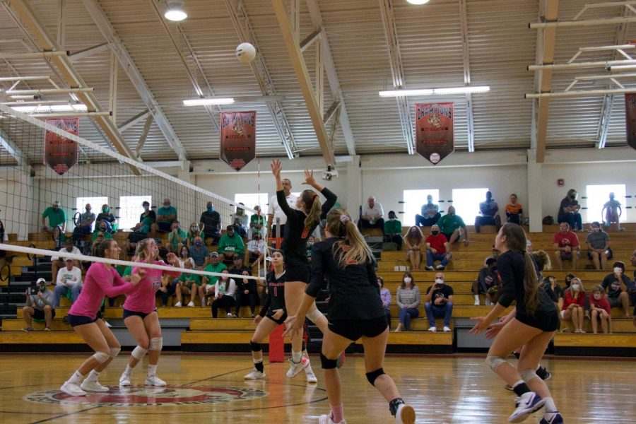 Girls volleyball team wins district championship